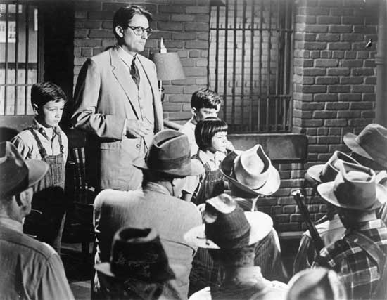 atticus and the children confront the mob outside the jail previous ...